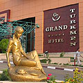 Pictures of the Grand Turkmen Hotel.  Hotels in Ashgabat