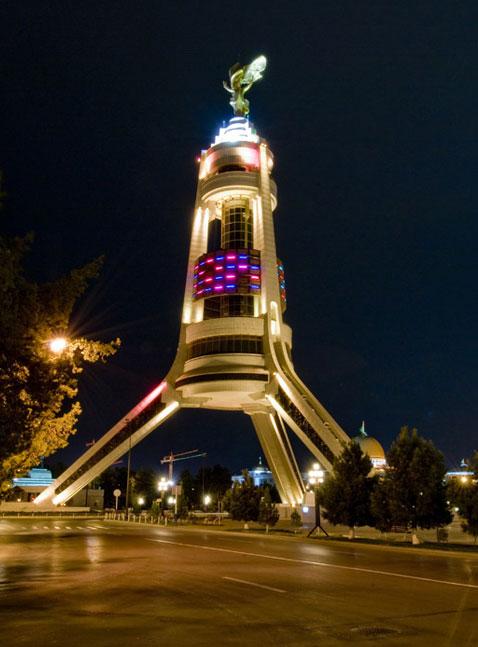 Monument Of Neutrality In Ashgabat Turkmenistan Tourism